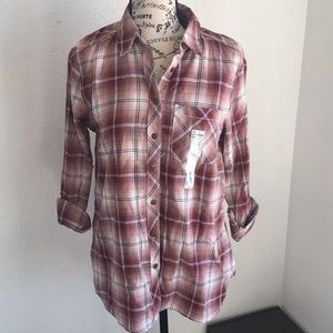 NWT women's small soft flannel long sleeved shirt